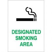 No Smoking safety sign - Designated 002